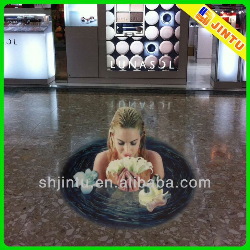 Transparent brillant vinyle 3d sol autocollants pour publicit auto collants - Sol vinyle autocollant ...