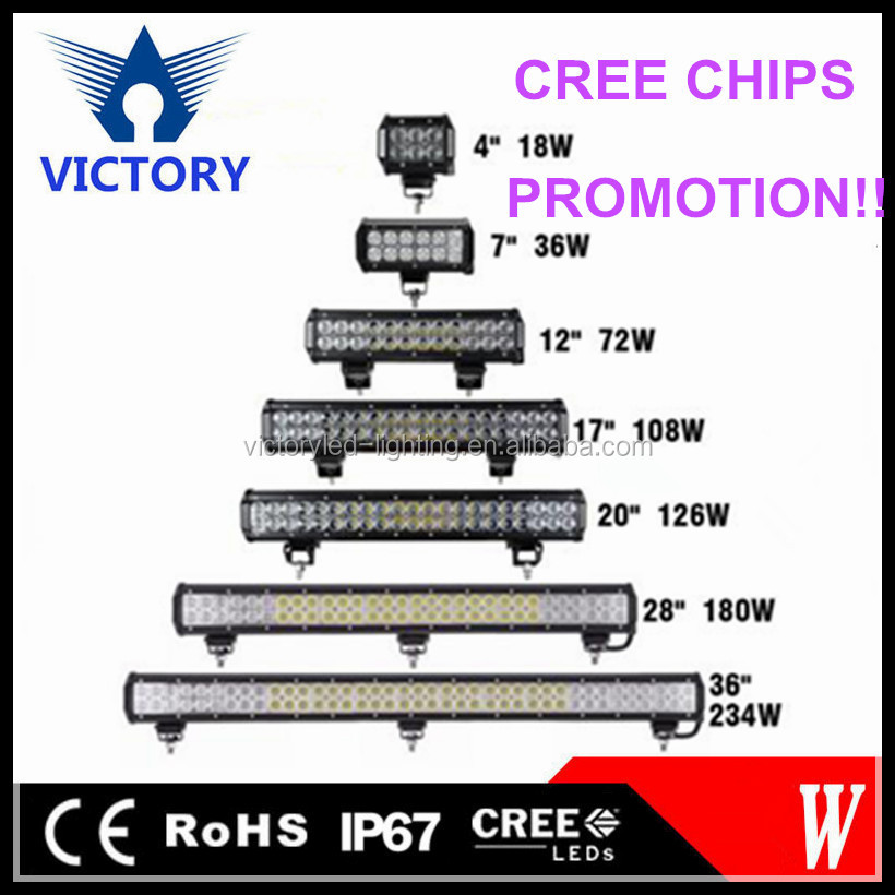 High quality Spot flood comb beam CREES 3W led working light bar for 4x4 truck off-road vehicle