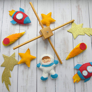 Space baby Mobile Rocket Mobile Baby Crib Mobile Space nursery mobile Handing mobile Space Nursery Decor