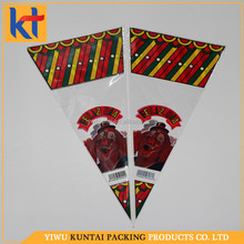 Yiwu wholesale custom printing clear transparent definition shaped packing bag.shaped candy bag