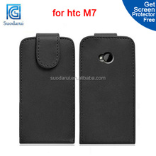 Flip PU Leather cover Case for HTC ONE M7 Flip Mix color Factory price