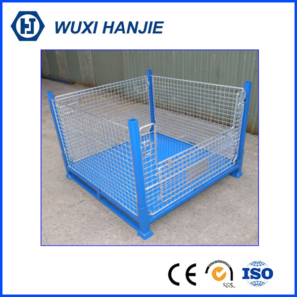 Modern design foldable welding metal pallet container storage