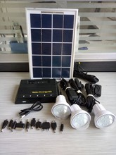 mini hot sel led light solar power kits indoor solar light kit for rural