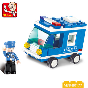 cheap price plastic building bricks car police toys game for kids