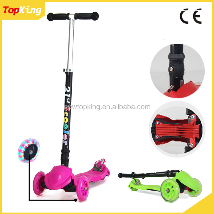 Adjustable and fold kick scooter with 120mm PU wheel