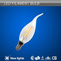 Copper Substrate E14 2W 4W Tail Led Filament with 360 Degree Beam Angle
