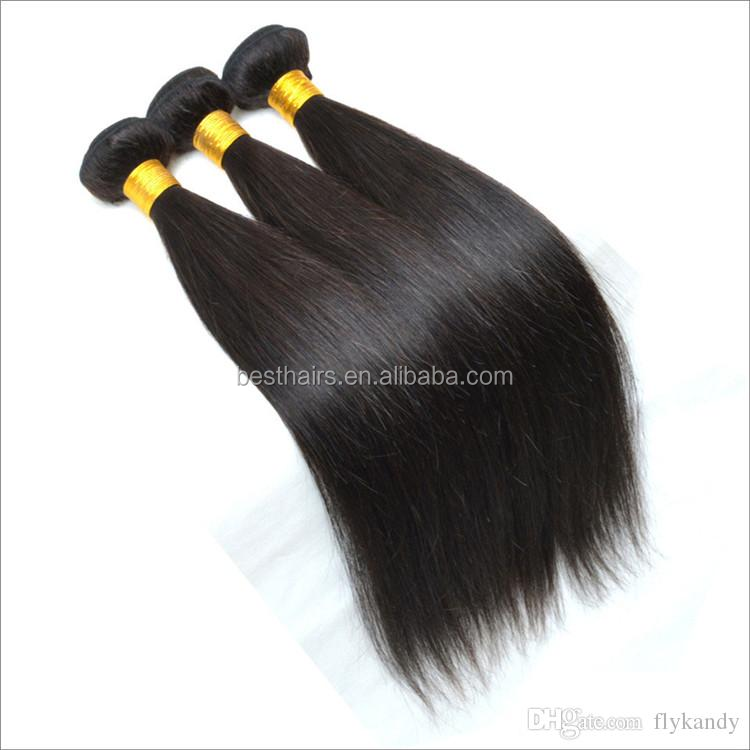 100% of Brazilian virgin hair color # 1 b natural straight hair manufacturers sell 50 <strong>g</strong>/Piece & 5pcs/Lot
