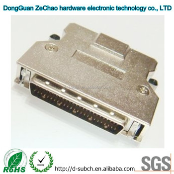 D type SCSI Connector,50 Way Straight Interface to PCB male Connector