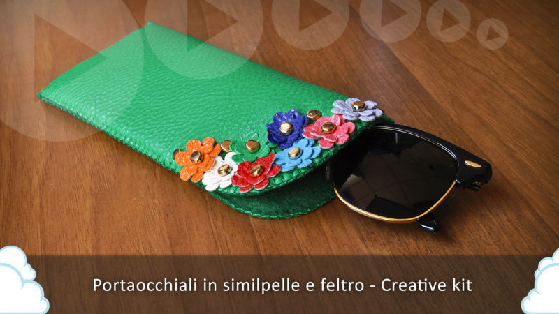 Eyewear case - Felt and faux leather - DIY