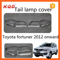Hot model fortuner 2013 Taillight cover for toyota fortuner 2012 Chrome accessories with 3M Tape fits TOYOTA fortuner