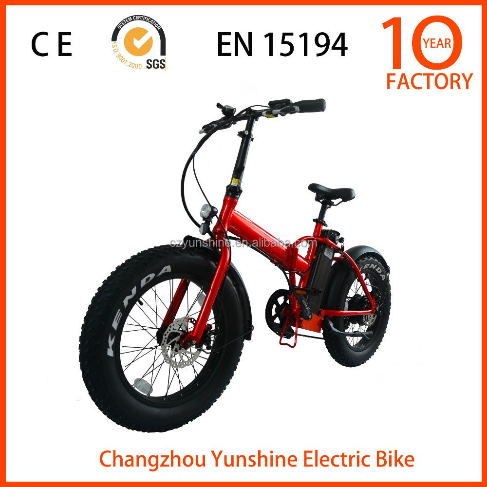 Changzhou Yunshine 20inch fat tire electric bike, 48v 1000w electric bike fold