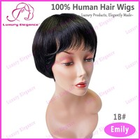 Short Yaki Bob Wig Natural Human Hair Chinese Manufacturer