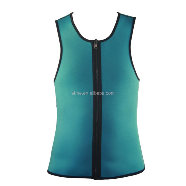 Wholesale ultra sweat trainer bodysuit body shape slim shape black zipper vest