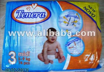 Tenera baby and adult diapers