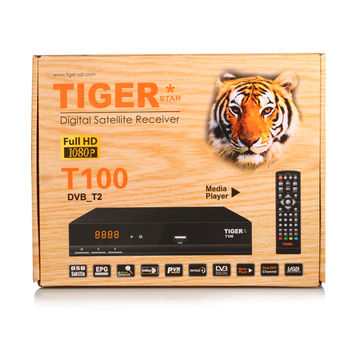 2017 New Hot Product T100 Tiger Decoder DVB-T2 FTA free to air internet receiver