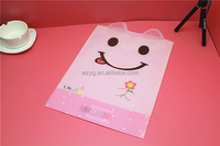 plastic clear file folder with button for children cartoon pvc bag with button