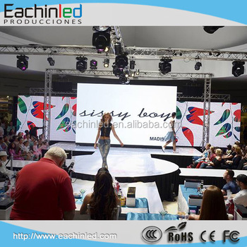 Screen led p4 500x1000 hd outdoor 4.81mm SMD 3in1 led video wall for stage background