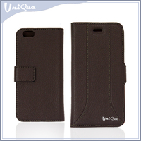 2015 wholesale new products mobile accessories compact mobile phone stand PU leather case cover for iphone 5