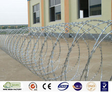 Factory wholesale stainless steel cross razor barbed concertina wire coil