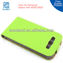 Super Slim Down Flip PU Leather Cover Case For Samsung Galaxy Win i8550 i8552