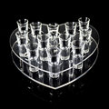 Shot Glass Tray Acrylic Serving Tray Heart Shape