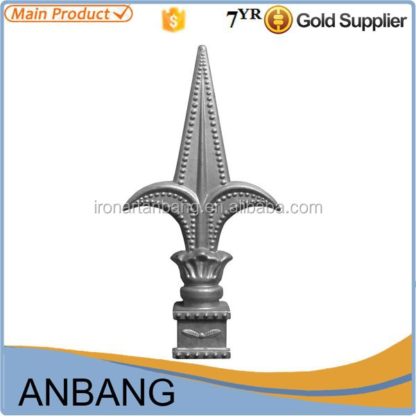 AB 2015 new decorative sand casting aluminum spear for fence