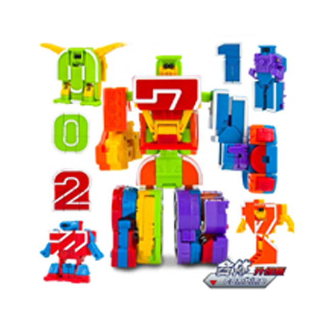 Magic combination Number Transform Robot  toys