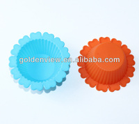 small flower shaped silicone for mini cupcakes cake muffin cookie pudding jelly baking cup pan mold mould mode bakeware
