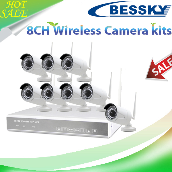 Long distance Transmittion Support wireless&wired mixed use ip wifi camera security camera system