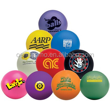 Promotion OEM Logo Printed Round PU Stress Ball