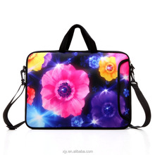 Neoprene Laptop Sleeve Bags with adjustable shoulder strap and handle