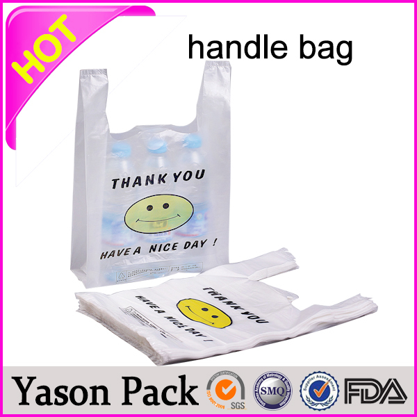 YASON small colored paper bags with handlesplastic die cut handle bagscustomized patch handle bag