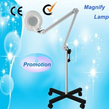 Au-662 skin analyzer magnifying glass with light stand/led Magnifying Lamp