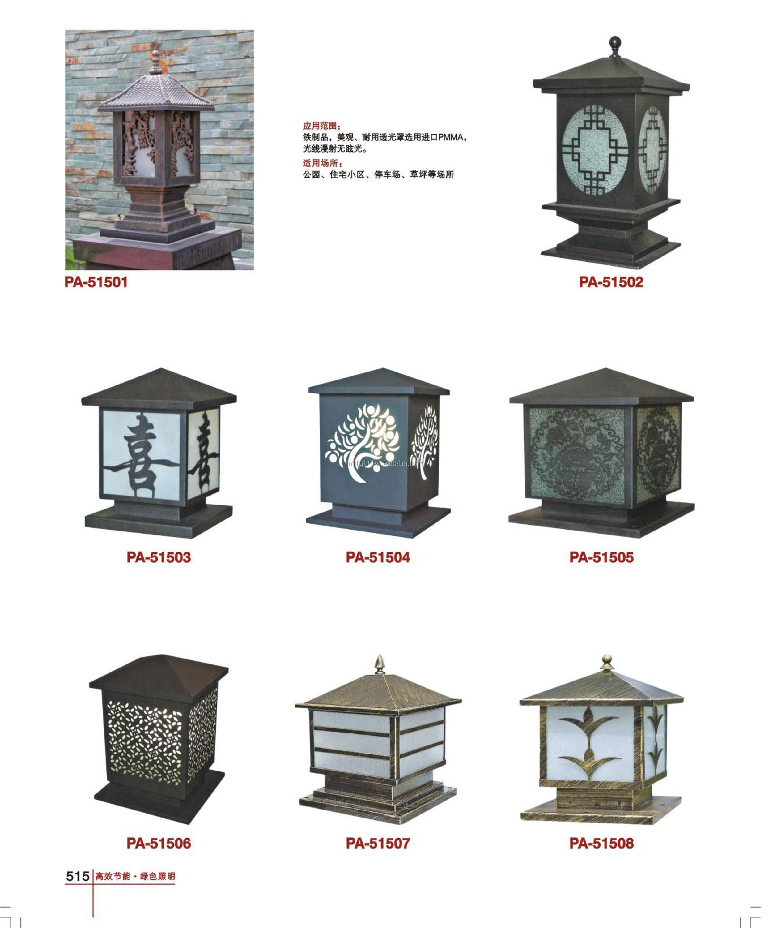 Exterior Garden Antique Led Gate Pillar Light
