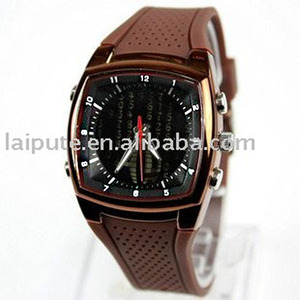 Eco-friendly Material Fashion Brown Sport silicone OTS watch Ik0015