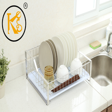 304 stainless steel single-tier bowl rack removable kitchen supplies dish rack drain shelves