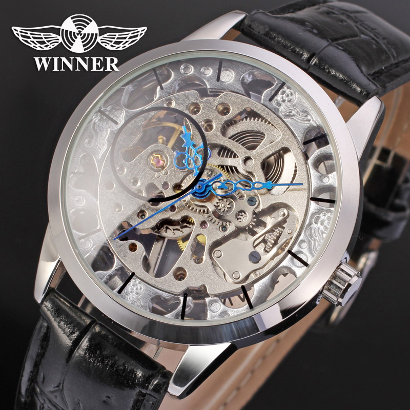 fashion western custom T-winner leather strap men watch and relojes de marca and hombre with logo
