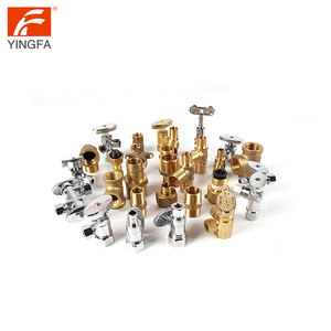 66202-8 Brass Flare male female pipe fittings Half Union tee adaptor