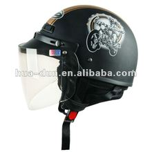 italian style comfortable safety half face motorcycle helmet with visor