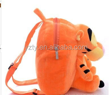 cute kids zoo animal backpack Plush school bags for children