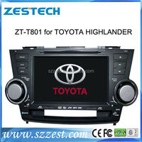 ZESTECH special car dvd for Toyota Highlander 2008-2012 For Toyota Highlander dvd cd player