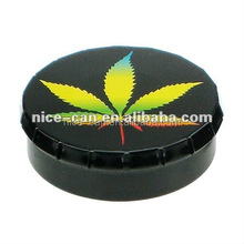 Black Round Click Clack Tin Mints/Candy Metal Packaging
