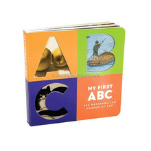 Round corner board alphabet childrens book