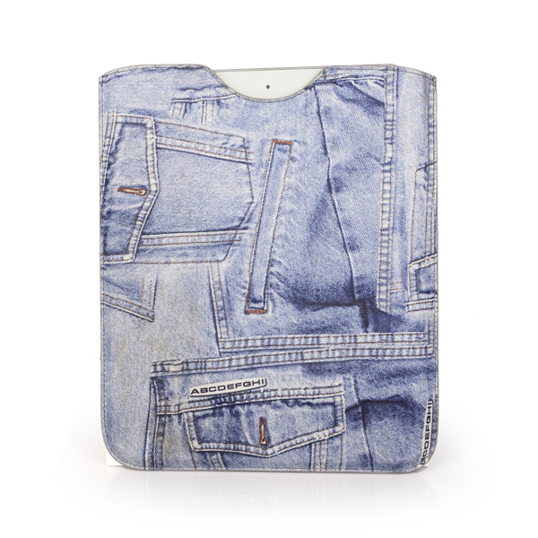 Denim fabric tablet pc cover cases for 7.9 inch ipad mini