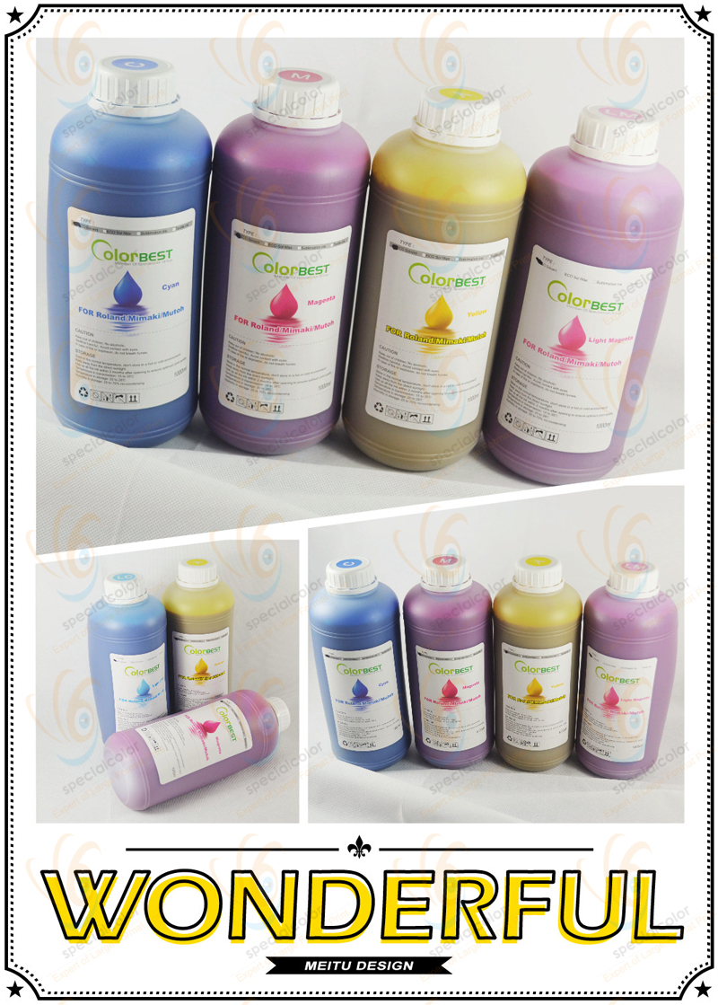 Large Format Printer Eco Solvent Ink For Mutoh Printers