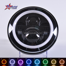 "Hi/low beam 7 inch round led headlight 7"" round led head lamp/jeep 7inch led headlight with app controller"