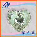Beautiful Plated Metal Silver Wedding Heart Shape Brooch Holder