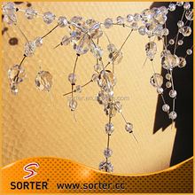 Clear crystal wire garland for wedding occasion&event decoration