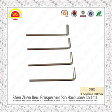 Mini metal iron L type short hex key