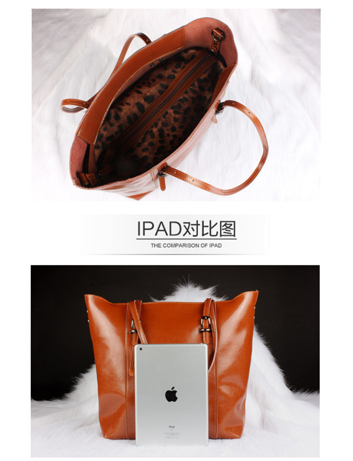 Fashion real leather tote bag for women lady handbags manufactures china_6